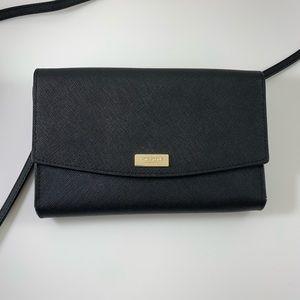 Kate Spade Black Leather crossbody wallet / purse